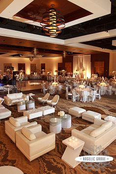 Wedding Reception with Lounge Area