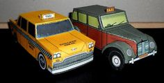 Taxis & Cabs From The World Paper Models - by Hiperfanauto    ====            Hiperfanauto share with us some nice paper models of Taxis/Cabs from some famous cities of the world, such as London, Lisboa, Buenos Aires and New york. T