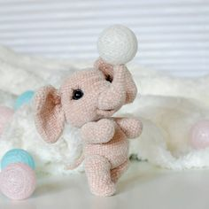 In this article I will share a wonderful amigurumi pattern again. You can enjoy this beautiful amigurumi elephant free english pattern.  Materials  Yarn Pekhorka children's novelty,  1 skein of the main color, half  skein of a different color  Hook 1.5-1.75  Filler  Long needle  Plastic joint or cotter pin  Plastic eyes d = 13mm, with  you can use  baked plastic for protein  Artificial cilia, button  1.5 mm wire for neck  no joint or cotter pin Main Colors, Different Colors, Elephant Pattern, Free Pattern, Teddy Bear, Toys, Protein, Wire, Plastic