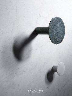 The delicate touch and bold geometric forms that characterise the Fontane Bianche collection of basins and tapware continue in the new range of accessories created by Elisa Ossino together with Salvatori. The elegance of each hook comes not only from the design itself but also from the fact it is created from a single piece of marble with no joins to interrupt its pure form. Fontane Bianche wall hooks are available in three sizes in Bianco Carrara, Verde Alpi, Botticino and Gris Du Marais.