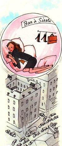 bar à sieste illustration by kanako
