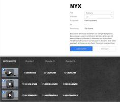 Freeletics Nyx Workout - Nyx besteht aus 3 Runden mit je 3 Übungen und ist in drei Varianten absolvierbar..