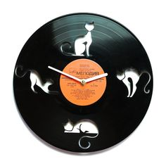 Clocks Ironman-1 Hearty Repurposed Vinyl Record Clocks And Wall Art
