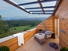 Balkon vom Musterhaus Qi von Baufritz • Mit Musterhaus.net Traumhaus finden und Inspirationen für bezaubernde Balkone sammeln!
