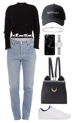 take me by mikaylaperrine ❤ liked on Polyvore featuring Agent Provocateur, Vetements, adidas Originals, NIKE, WithChic and Emporio Armani