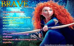 Brave…the workout!    Want to see more workouts like this one? Follow us here for all of your favorite shows and movies!