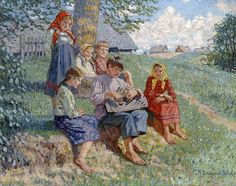 Young Musicians ~ Nikolai Petrovich Bogdanov-Belsky ~ (Rússia, 1868-1945)