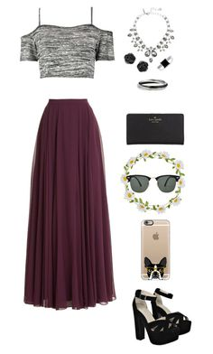 """Untitled #423"" by koolkat55 ❤ liked on Polyvore featuring Halston Heritage, Boohoo, Kate Spade, Oscar de la Renta, BERRICLE, Carole, Ray-Ban and Casetify"