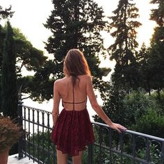 cute back detail, and love the color of the dress