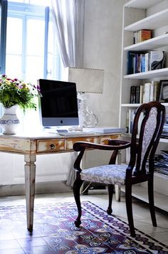 Home office!   (A girl has to have her dreams of a clean desk!)