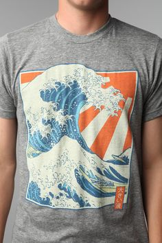 Life Wave And Sun Tee  #UrbanOutfitters