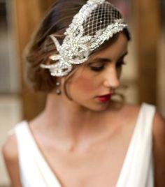 Bride's French chignon bridal hair Toni Kami Wedding Hairstyles ♥ ❷ Wedding hairstyle ideas  20's Gatsby Swarovski headband