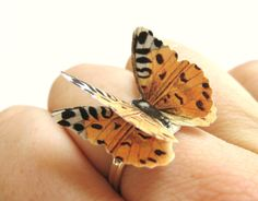 Animal Print Ring Cheetah Pattern Paper Butterfly Jewellery