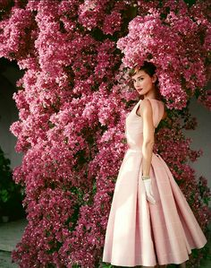 "swinginglamour: "" Audrey Hepburn photographed for Vogue by Norman Parkinson, at the La Vigna villa in Albano Laziale, Lazio, Italy in 1955. """