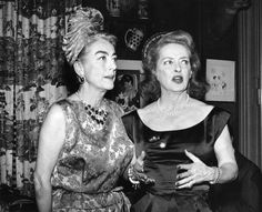 """Bette Davis on Joan Crawford: """"Her eyebrows are like 'African caterpillars' and her best performance was """"Crawford being Crawford.""""  Joan Crawford on Bette Davis: """"She's phony, but I guess the public really likes that."""""""