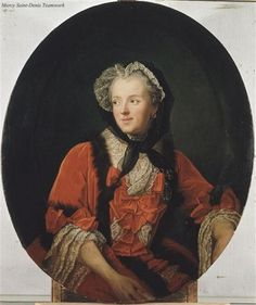 A portrait of Marie Leszczynska, queen of Louis XV, by Jean-Marc Nattier. 18th century.