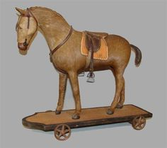 HORSE PULL TOY - 19th C.
