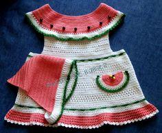 Baby Girl Crochet Pattern Pinafore Dress and by SugarToeBabies