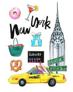 New York Illustration by Artist Rongrong DeVoe