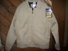 NWT Carhartt Twill Work Jacket mid weight Lined J293 Work Wear Mens M Medium Reg #Carhartt #BasicJacket