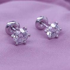 #jewelry #earrings #studearrings #2caratdiamond #2caratearrings #whitegoldearrings #diamondearrings #naturaldiamonds #screwbackearrings #screwbackstuds #martiniearrings #roundcutdiamond #naturaldiamond #genuinediamond #clarityenhanced #uniqueearrings Bridesmaid Earrings, Bridal Earrings, Etsy Earrings, Radiant Engagement Rings, Engagement Ring Shapes, Solitaire Earrings, Diamond Earrings, Diamond Jewelry, 14k White Gold Earrings