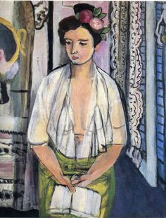 Reader on a Black Background, 1918, Henri Matisse Medium: oil on canvas