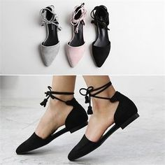Buy Reneve Ankle-Strap D'Orsay Flats at YesStyle.com! Quality products at remarkable prices. FREE WORLDWIDE SHIPPING on orders over € 34.