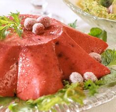 RASPBERRY CRANBERRY MOLD - A family favorite recipe shared by a friend. We enjoyed this Raspberry Cranberry Mold cool, flavorful salad at an outdoor picnic. Wonderful textures and tangy flavor.  Get this recipe by clicking on the link below: http://ow.ly/RE31301D7hO