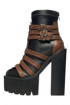 Jeffrey Campbell Gonzo Platform in Black Brown
