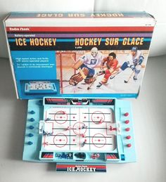 Vintage Radio Shack Battery Operated Mini Ice Hockey Game Gammer 1980's Retro in his original box by TreasuresMemories on Etsy