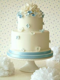Something Blue Cake by Rachelle's Cakes
