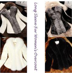 Solid Color Long Sleeve Fur Women