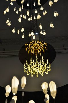 Beau&Bien is inspired by the «Century of Lights» to create poetic and ecological chandeliers