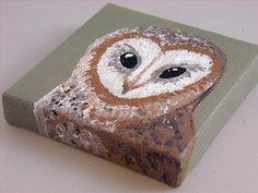 Acrylic Barn Owl Painting