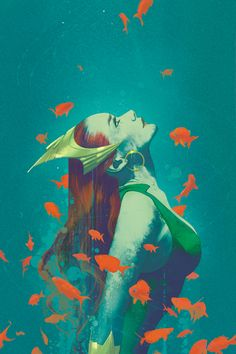Variant cover art by Joshua Middleton for 'Aquaman' published November 2016 by DC Comics. Mera Dc Comics, Arte Dc Comics, Comic Book Artists, Comic Books Art, Comic Artist, Aquaman Comics, Comic Book Characters, Comic Character, Comics