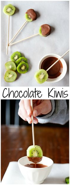 Chocolate-Covered Kiwi Pops from LauraFuentes.com