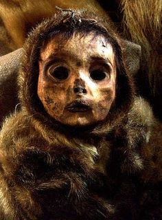The haunting face of an Inuit child who died in Greenland in the 1400s