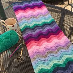 Pattern is neat ripple by lovely Lucy Attic 24 Attic 24 Crochet, Make It Yourself, Blanket, Pattern, Collection, Beautiful, Fall, Pictures, Craft