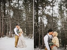 A Snowy Winter Wedding: Kezia + Ashton | Green Wedding Shoes Wedding Blog | Wedding Trends for Stylish + Creative Brides