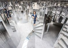 """Kanye West Collaborator Es Devlin Discusses Her Latest Solo Exhibition: The stage designer displayed """"ROOM at Art Basel Miami. Mirror Room, Mirror Set, Mirror Ideas, Kanye West, Es Devlin, Desgin, Mirror Maze, Instalation Art, Stage Set"""