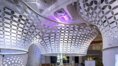 Giant Cloud-Like Ceiling Interacts With Museum Visitors