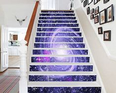 3D Universe world 906 Staircase Stairway Stairs Risers Stickers Mural Photo Mural Vinyl Decal Wallpaper Removable
