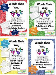 Life, Love, Literacy: ~Words their Way Word Derivational Relations Notebook~