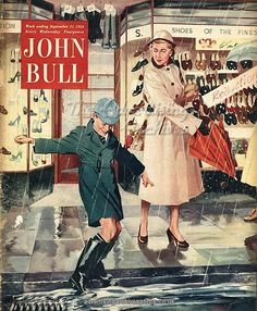 John Bull 1954 Uk Mothers Sons by The Advertising Archives British Magazines, Old Magazines, Vintage Magazines, Vintage Ads, Advertising Archives, Retro Advertising, Umbrella Shop, Magazine Art, Magazine Covers