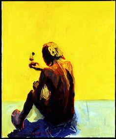 (1976). Olje på lerret. ©Widerberg, Frans/BONO Blue Is The Warmest Colour, Venice Biennale, Art For Art Sake, Warm Colors, Figurative, Portrait, Gallery, Painting, Artists