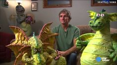 Paper mache artist gains fame with elaborate sculptures / Published on Jul 14, 2015  A Seattle artist has turned his love of paper mache from a hobby into a career. The artist is known for his elaborate sculptures of dragons, monsters with real human teeth, and 'greedy politicians.'