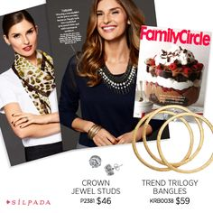 The 2015 Spring/Summer Collection has arrived, and @familycirclemag shows you how to take your style from workday to weekend with the new Trend Trilogy Bangles and Crown Jewel Studs!