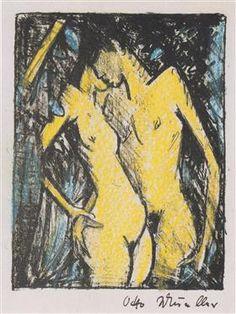 Stehendes Liebespaar (klein) - Otto Mueller