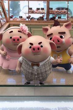 This Little Piggy, Little Pigs, Pig Illustration, Illustrations, Pig Wallpaper, Mini Pigs, Cute Pigs, Cute Drawings, Rabbit