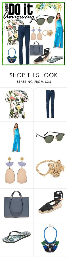 """Do it anyway"" by denisee-denisee ❤ liked on Polyvore featuring VIVETTA, Olympiah, Zac Posen, Ray-Ban, Isabel Marant, Kenzo, Haerfest, Castañer, Havaianas and Adia Kibur"